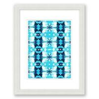 Aqua Ink Blot 15-Inch x 18-Inch Framed Wall Art