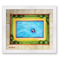 Pool 16-Inch x 14-Inch Paper Framed Print Wall Art