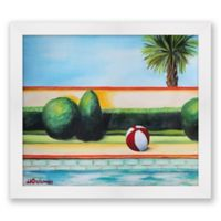 Beach Ball 16-Inch x 14-Inch Paper Framed Print Wall Art
