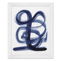 Indigo Lines 25.5-Inch x 31.5-Inch Paper Framed Print Wall Art
