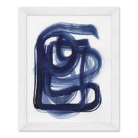 Indigo Lines II 25.5-Inch x 31.5-Inch Paper Framed Print Wall Art