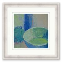Still Life in Blue 21.25-Inch Square Framed Wall Art