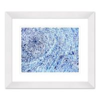 Water Design 27.5-Inch x 23.5-Inch Paper Framed Print Wall Art