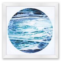 Ocean Moon 1 31.5-Inch Square Abstract Framed Print Wall Art