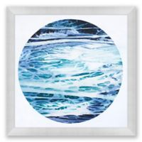 Ocean Moon 1 39.5-Inch Square Abstract Framed Print Wall Art