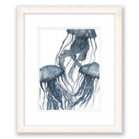Watercolor Jellyfish 24-Inch x 20-Inch Framed Print Wall Art