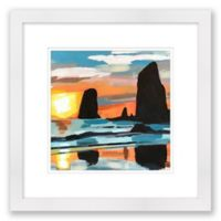 Cannon Beach 16-Inch Square Framed Wall Art