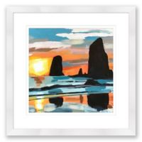 Cannon Beach 24-Inch Square Framed Wall Art