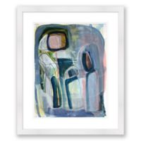 Abstract Paper Framed Print
