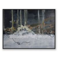 Moody 40-Inch x 30-Inch Abstract Framed Canvas Wall Art