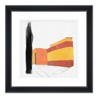 Abstract Home Stretch 27.5-Inch Square Paper Framed Print Wall Art