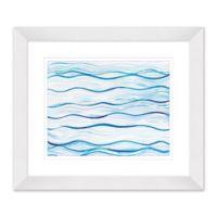 Water Design II 27.5-Inch x 23.5-Inch Paper Framed Print Wall Art