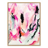 Abstract Chica 33.75-Inch x 43.75-Inch Framed Canvas Wall Art