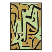 Abstract Midcentrury 26.75-Inch x 38.75-Inch Framed Canvas Wall Art