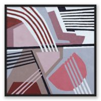 Abstract Lines & Shapes 20-Inch Square Framed Canvas Wall Art