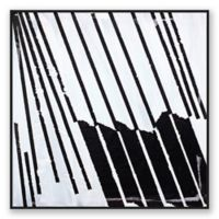 Basket Case Abstract 10-Inch Square Framed Canvas Wall Art in Black/White