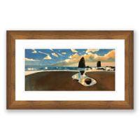 Big Cannon Beach 40-Inch x 25-Inch Paper Print Framed Wall Art