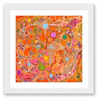 Orange Cosmos 31.5-Inch x 31.5-Inch Abstract Paper Framed Print