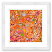 Orange Cosmos 20-Inch x 20-Inch Abstract Paper Framed Print
