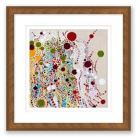 Free and Easy 15.5-Inch Square Abstract Paper Print Framed Wall Art