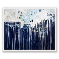 State of Flow Abstract 40-Inch x 30-Inch Canvas Framed Wall Art