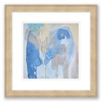 Blue & Grey Abstract 16-Inch Framed Print Wall Art