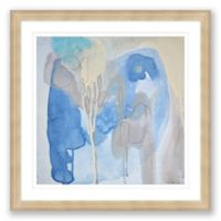 Blue & Grey Abstract 24-Inch Framed Print Wall Art
