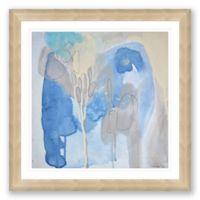 Blue & Grey Abstract 31.5-Inch Framed Print Wall Art