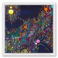 Fantasy Abstract 20-Inch Square Framed Canvas Wall Art