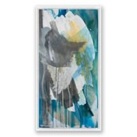 Marco Polo Abstract 20-Inch x 40-Inch Framed Canvas Wall Art