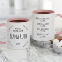 My Greatest Blessings Call Me Coffee Mug in Pink