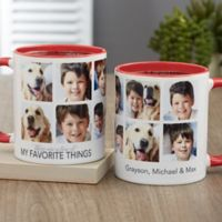 My Favorite Things Personalized 11 oz. Coffee Mug in Red