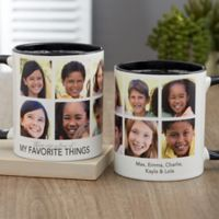 My Favorite Things Personalized 11 oz. Coffee Mug in Black