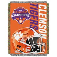 Clemson University 2018 Football National Champions Tapestry Throw Blanket