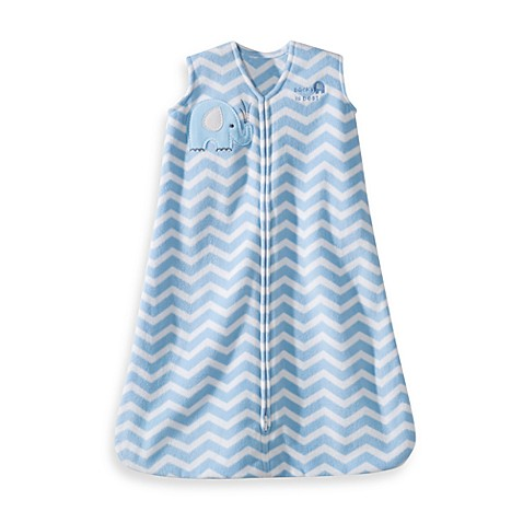 HALO® SleepSack® Small Wearable Blanket in Blue Zigzag Elephant