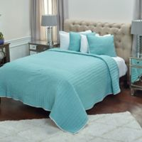 Rizzy Home Jade King Quilt in White