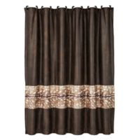 HiEnd Accents Axis Shower Curtain in Brown