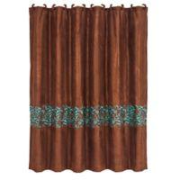 HiEnd Accents Wyatt Scroll Shower Curtain in Brown