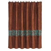 HiEnd Accents Wyatt Scroll Shower Curtain In Brown
