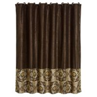 HiEnd Accents Loretta Shower Curtain in Brown