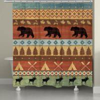 Laural HomeR Bear Lodge Shower Curtain