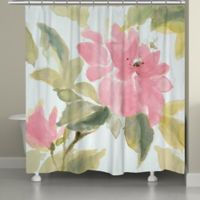 Laural Home® Pink Blooms Shower Curtain