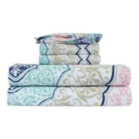 Peach and Oak Melody 6-Piece Bath Towel Set