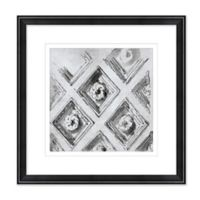 Architectural Details 1 17.5-Inch Square Framed Wall Art in Black/White