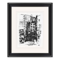 City Sketch 1 19-Inch x 23-Inch Framed Print Wall Art in Black/White