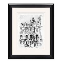 City Sketch 2 19-Inch x 23-Inch Framed Print Wall Art in Black/White