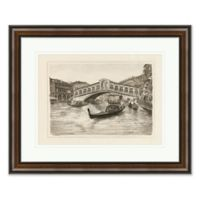 Venice Canal 1 26-Inch x 32-Inch Framed Print Wall Art