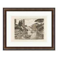 Venice Canal 2 26-Inch x 32-Inch Framed Print Wall Art