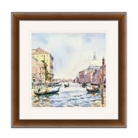 Venice Watercolor 1 27.5-Inch Square Framed Wall Art