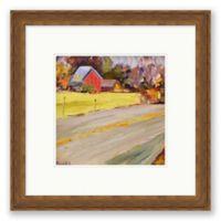 Red Barn 21.25-Inch Square Framed Wall Art